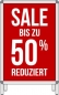 Mobile Preview: Anwendungsbeispiel Sale 50%