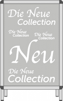 Rahmenplakat DIN A1 Die Neue Collection