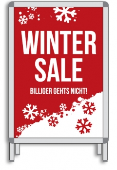 Rahmenplakat DIN A1 WINTER SALE