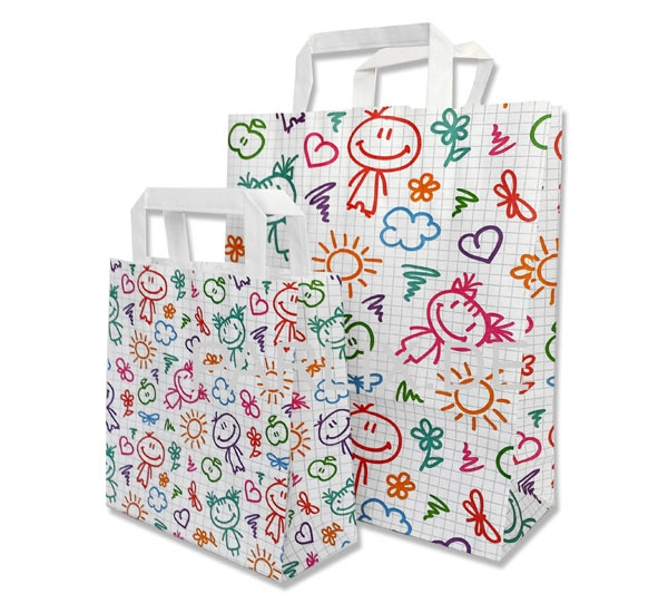 Papiertaschen Happy Kids